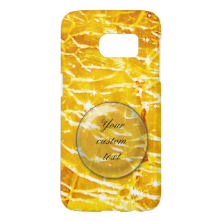 Amber crackled glass photo samsung galaxy s7 case