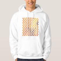 Amber elephants pattern custom background color hoodie