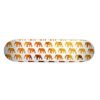 Amber elephants pattern custom background color skateboard deck