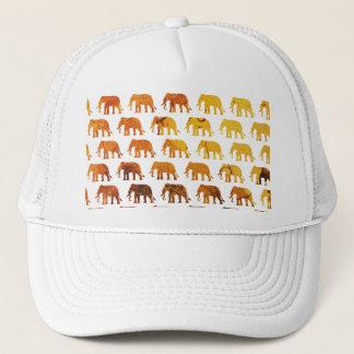 Amber elephants pattern custom background color trucker hat