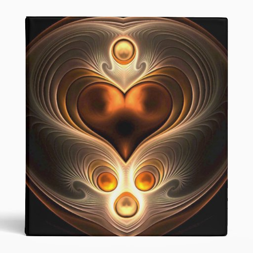 Amber Eternity Heart Abstract Binder