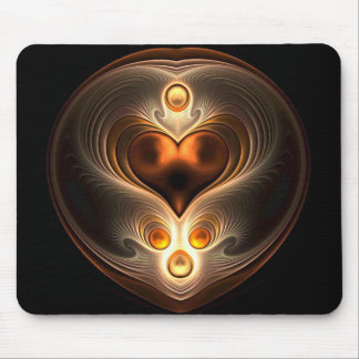 Amber Eternity Heart Mouse Pad