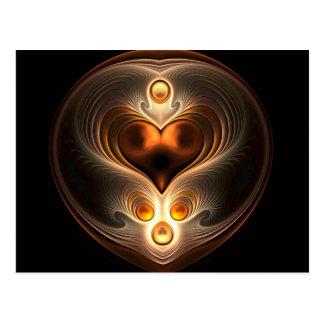 Amber Eternity Heart Postcard