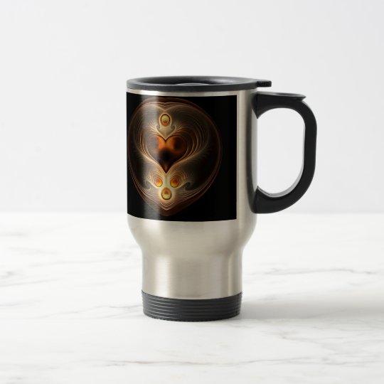 Amber Eternity Heart Thermal Mug