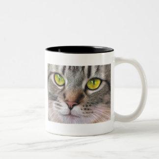 Amber Eyes Two-Tone Coffee Mug