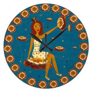Amber Faerie Wall Clocks
