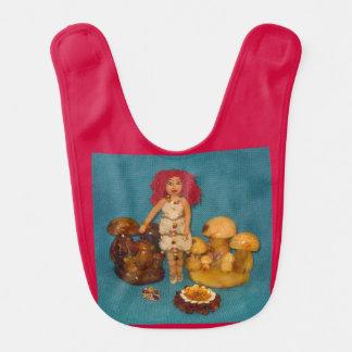 Amber Faerie Doll Baby Bib