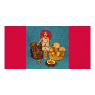 Amber Faerie Doll Card