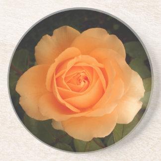 Amber Flush Rose - Drink Coaster