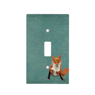 Amber Fox Blue Light Switch Light Switch Cover