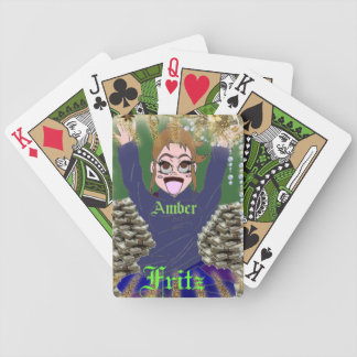 Amber Fritz playing Cards