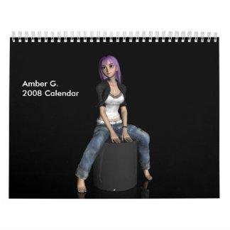 Amber G. 2008 Calendar