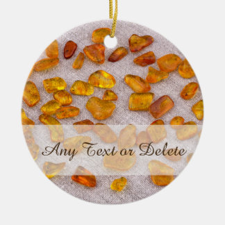 Amber gemstones ceramic ornament