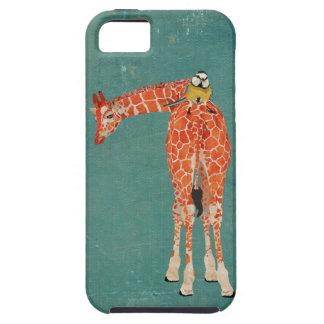 Amber Giraffe & Little Blue Bird Case iPhone 5 Covers
