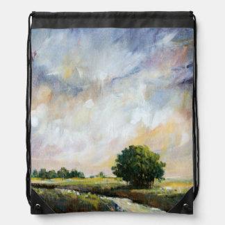 Amber Glow II Drawstring Backpack