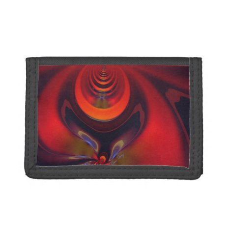 Amber Goddess, Abstract Orange and Gold Passion Tri-fold Wallet