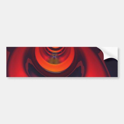 Amber Goddess – Orange and Gold Passion Bumper Sticker