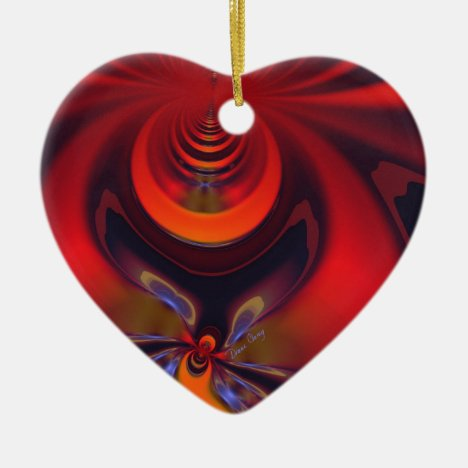 Amber Goddess – Orange and Gold Passion Ceramic Ornament