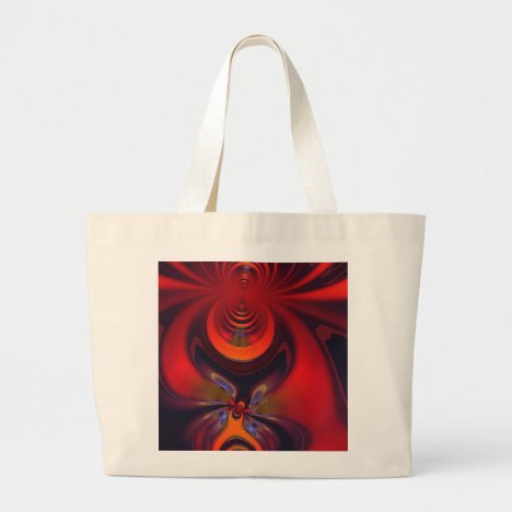 Amber Goddess – Orange and Gold Passion Large Tote Bag