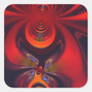 Amber Goddess – Orange and Gold Passion Square Sticker