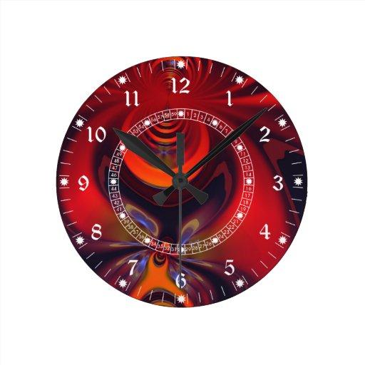 Amber Goddess Wall clock