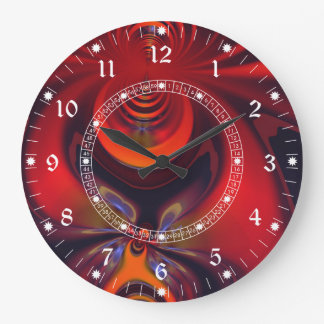 Amber Goddess – Red and Gold Delight Wall Clock