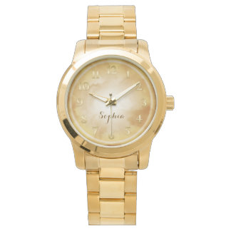 Amber Gold Marble Wristwatch