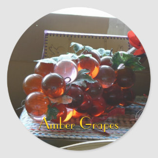 Amber Grapes Classic Round Sticker