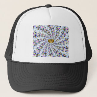 Amber Heart Spiral Trucker Hat