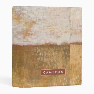 Amber Horizon Abstract Print | Melissa Averinos Mini Binder