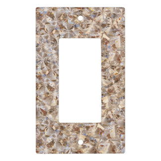 Amber Ice Crystals Bling Decor Photography Light Switch Cover