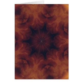 Amber kaleidoscope card