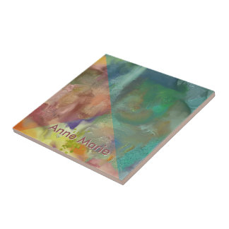 Amber Lens Abstract Ceramic Tile
