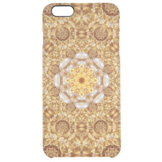Amber Mandala Clear iPhone 6 Plus Case