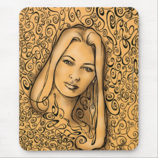 Amber Mouse Pad