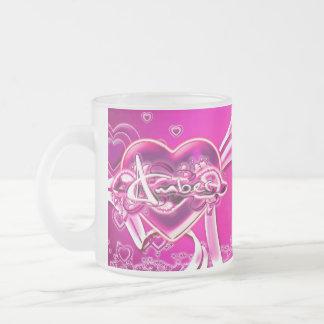 Amber 10 Oz Frosted Glass Coffee Mug