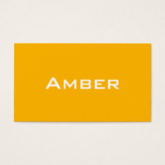 Amber Name and Shade Custom Business Card
