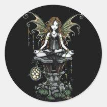myka jelina, gothic, fairy, art, dark, fairies, lotus, nature, Sticker with custom graphic design