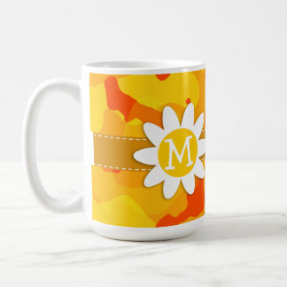 Amber Orange Camo; Daisy Coffee Mug