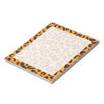 "Amber Orange Leopard ""animal print"" Note Pad"