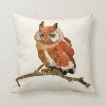Amber Owl Mojo Pillow