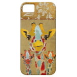 Amber Peeking Giraffes Gold Damask  iPhone Case iPhone 5 Cover