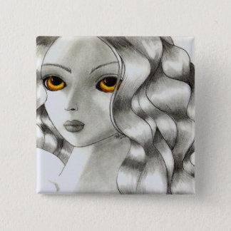 Amber Pinback Button