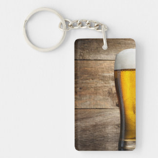 Amber Pint Glasses Keychain