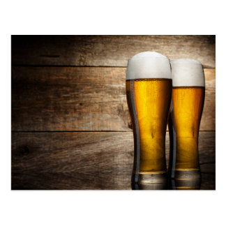 Amber Pint Glasses Postcard