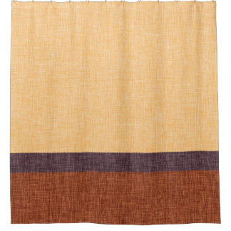 Amber Purple and Brown Weave Texture Stripes Shower Curtain