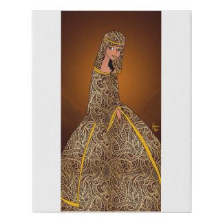 Amber Queen Faux Canvas Print