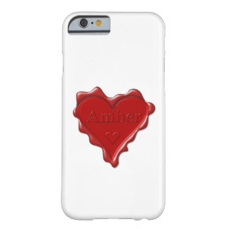 Amber. Red heart wax seal with name Amber Barely There iPhone 6 Case