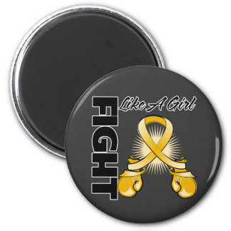 Amber Ribbon Fight Like A Girl Fridge Magnets