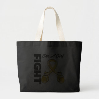 Amber Ribbon Fight Like A Girl Jumbo Tote Bag